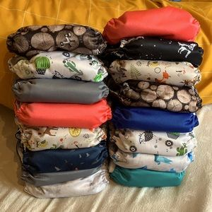 16 Omaiki all-in-one cloth diapers